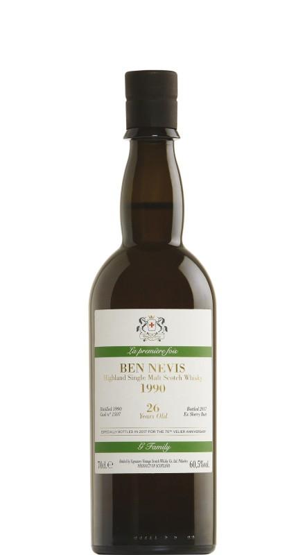 Signatory Ben Nevis 1990 26 Yo Sherry Cask 1507 - 70° Anniversario Velier