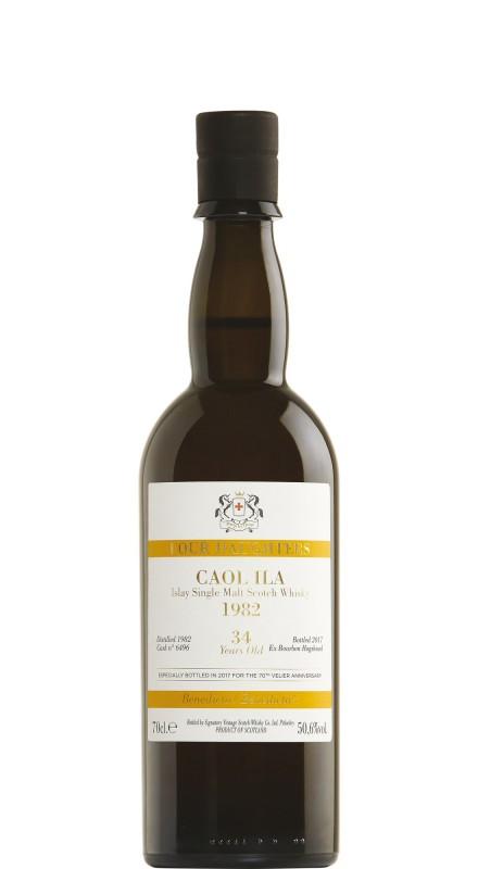 Signatory Caol Ila 1982 34 Y.O. Bourbon Cask 6496 - 70° Anniversario Velier