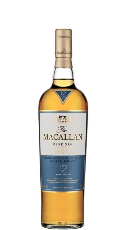 Macallan 12 Y.O. Fine Oak Single Malt Whisky