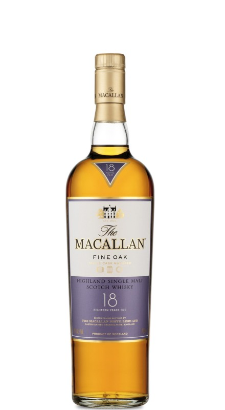 Macallan 18 Y.O. Fine Oak Single Malt Whisky