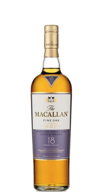 The Macallan 18 Y.O. Fine Oak Single Malt Whisky