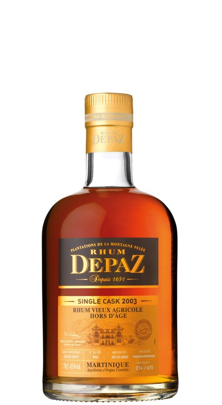 Depaz 2003 Single Cask Rhum Agricole