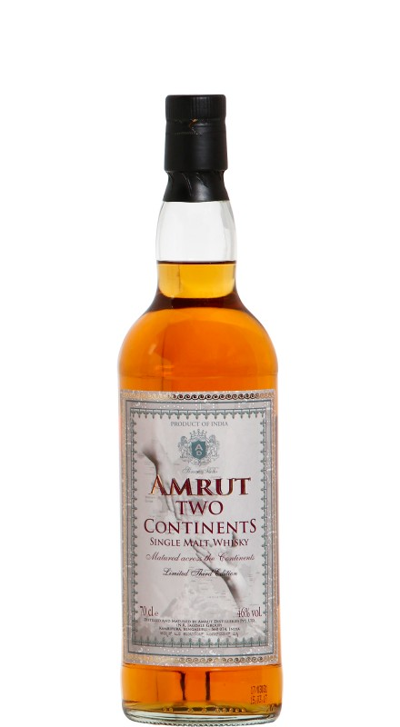 Amrut Two Continents 3rd Edition Single Malt Whisky