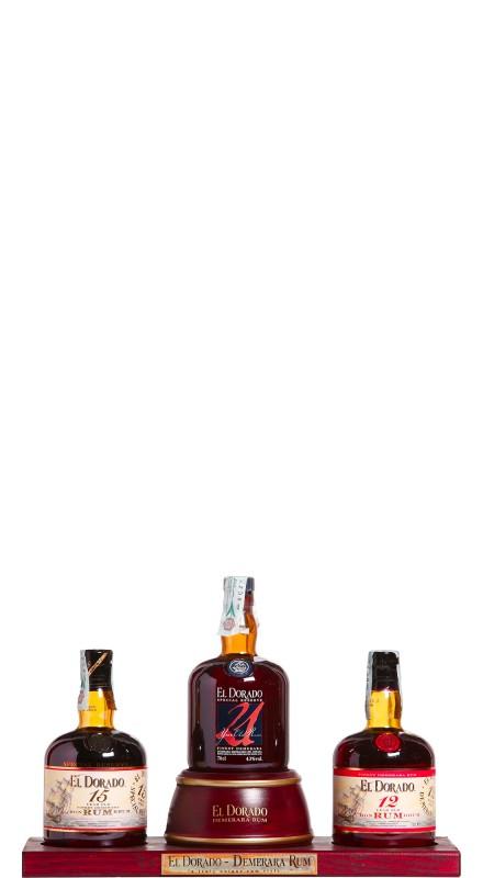 El Dorado Rum Display Pack (12 + 15 + 21 Y.O.)