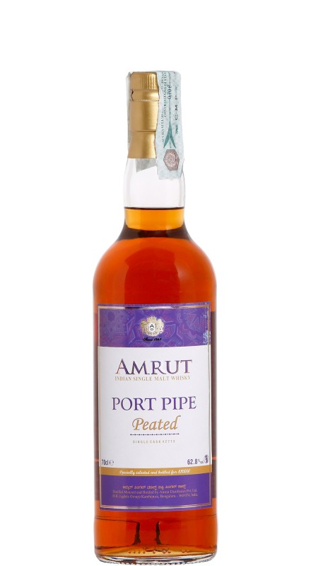 Amrut Single Cask Port Pipe Peated Whisky