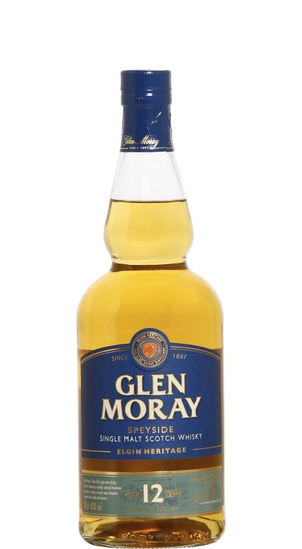 Glen Moray 12 Y.O. Elgin Heritage Single Malt Scotch Whisky