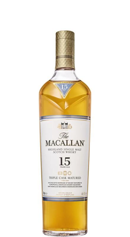 Macallan 15 Y.O. Triple Cask Matured Single Malt Whisky