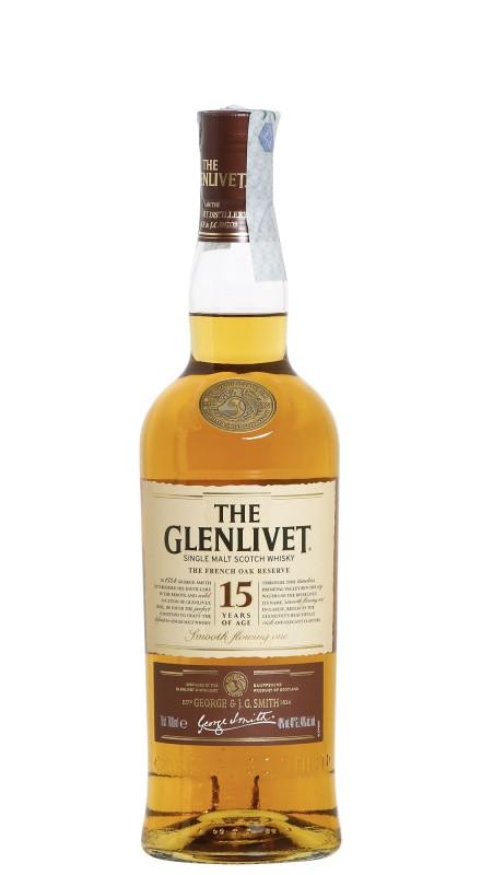Glenlivet 15 Y.O. French Oak Reserve Single Malt Scotch Whisky