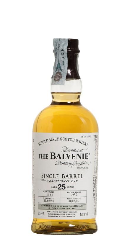 Balvenie 25 Y.O. Single Barrel Traditional Oak Single Malt Whisky