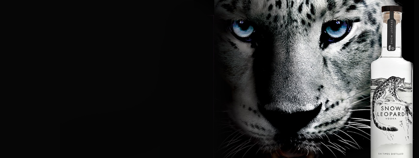 snow leopard vodka banner